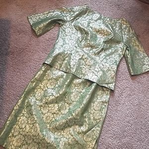 Vintage Roban NY Suit - Green and Gold - Cocktail